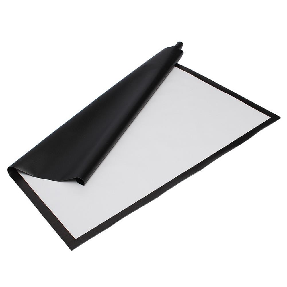 projector-screens 100 inch Projector Screen 16:9 221cm x 125cm Projector Accessories Fabric Material Matte White HOB1219424 2 1