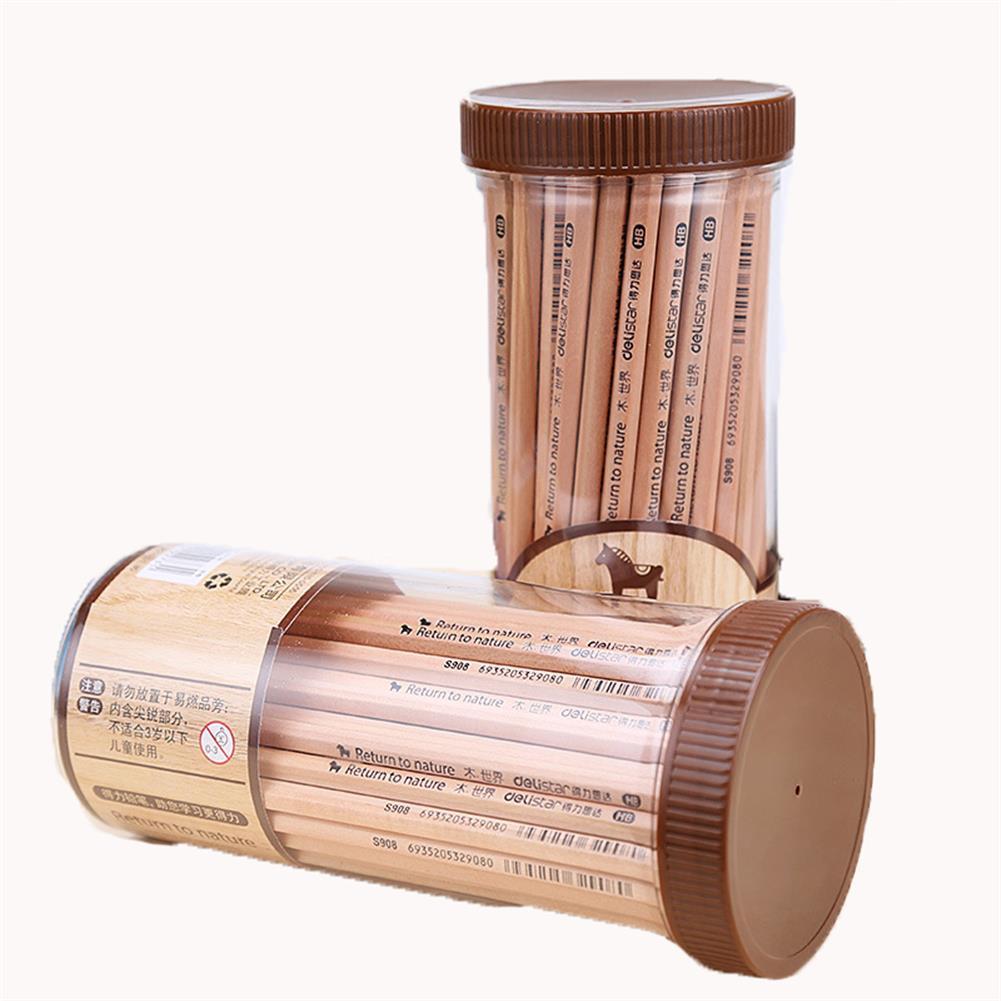 art-kit 72 Pcs Deli 2B Original Wood Standard Pencils Set 1 Box Stationery Writing Drawing Art Sketch School Students Supplies HOB1232553 1