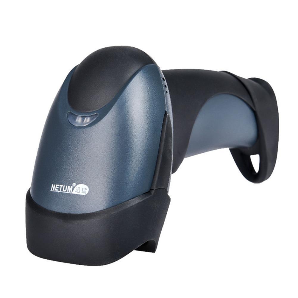 scanners NETUM Wireless Barcode Scanner Red Light CCD Laser Handheld Scaner Reader for Warehouse Book Film HOB1248358 3 1