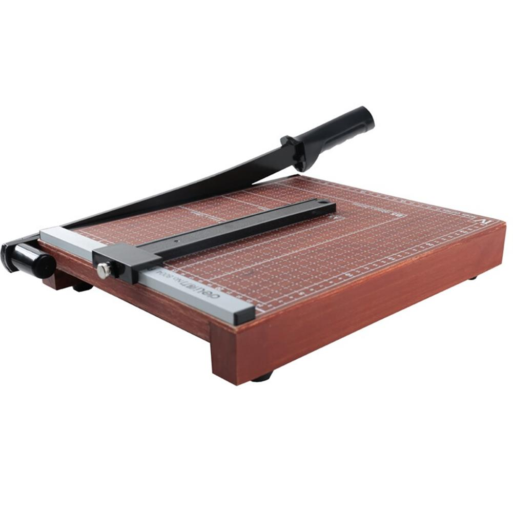 other-learning-office-supplies Deli 8004 Portable A4 Wooden Paper Photo Cutter Paper Trimmer Scrap Machine for Home office HOB1248541 2 1