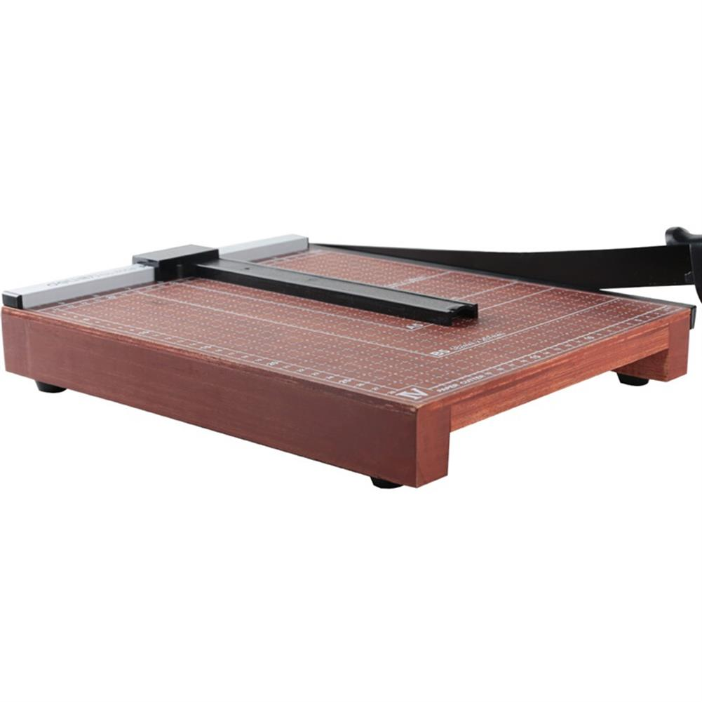 other-learning-office-supplies Deli 8004 Portable A4 Wooden Paper Photo Cutter Paper Trimmer Scrap Machine for Home office HOB1248541 3 1