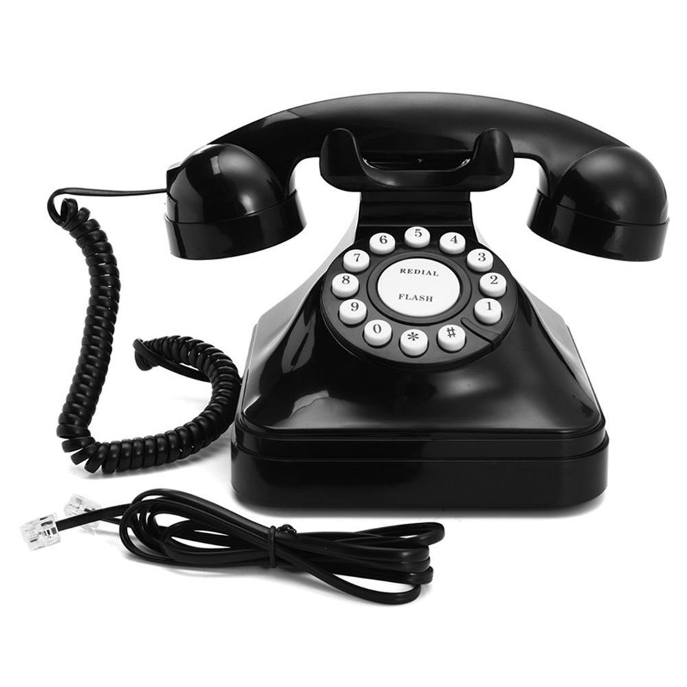 attendance-machine Vintage Retro Antique Phone Wired Corded Landline Telephone Home Desk Decoration Black HOB1258922 1