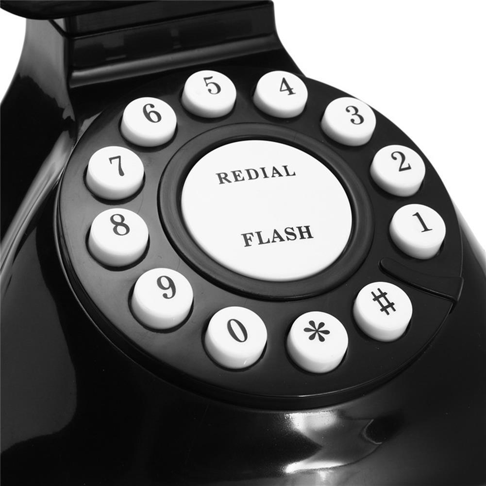 attendance-machine Vintage Retro Antique Phone Wired Corded Landline Telephone Home Desk Decoration Black HOB1258922 2 1