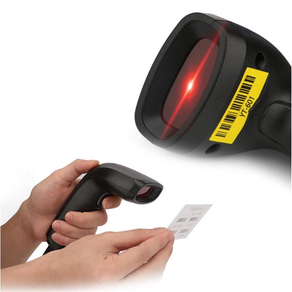 scanners High Speed 2.4G Wired Barcode Scanner Handheld Scanning 1D Bar Code Reader Decoder Scanner YT-601 HOB1261651 2 1