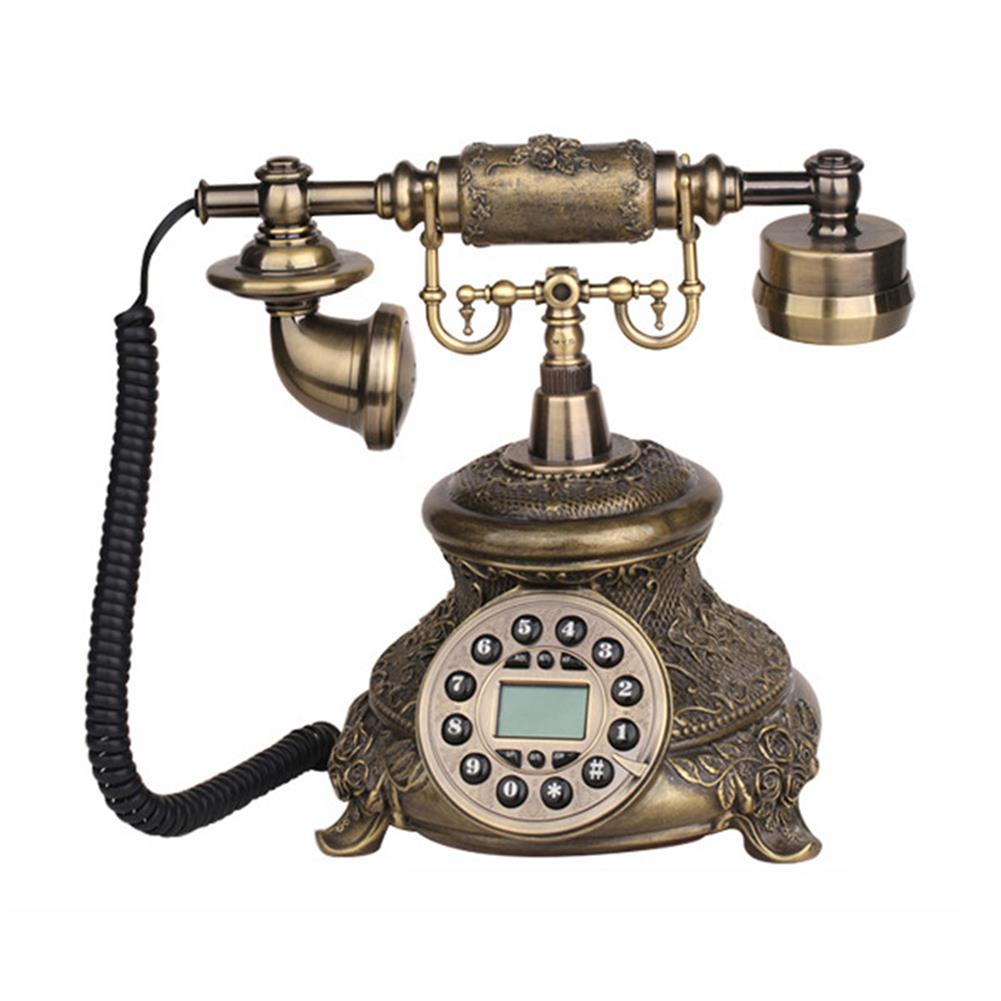 attendance-machine Telephone Landline Corded Phone Vintage Antique Style Old Fashioned Retro Home office Decoration HOB1262331 1