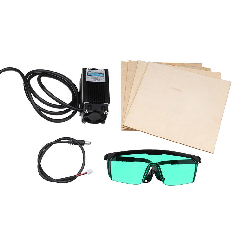 3d-printer-accessories 12V Blue Violet Laser Engraving Head Set with Wood Plates for CR-10 CR-10S 3D Printer HOB1281920 1