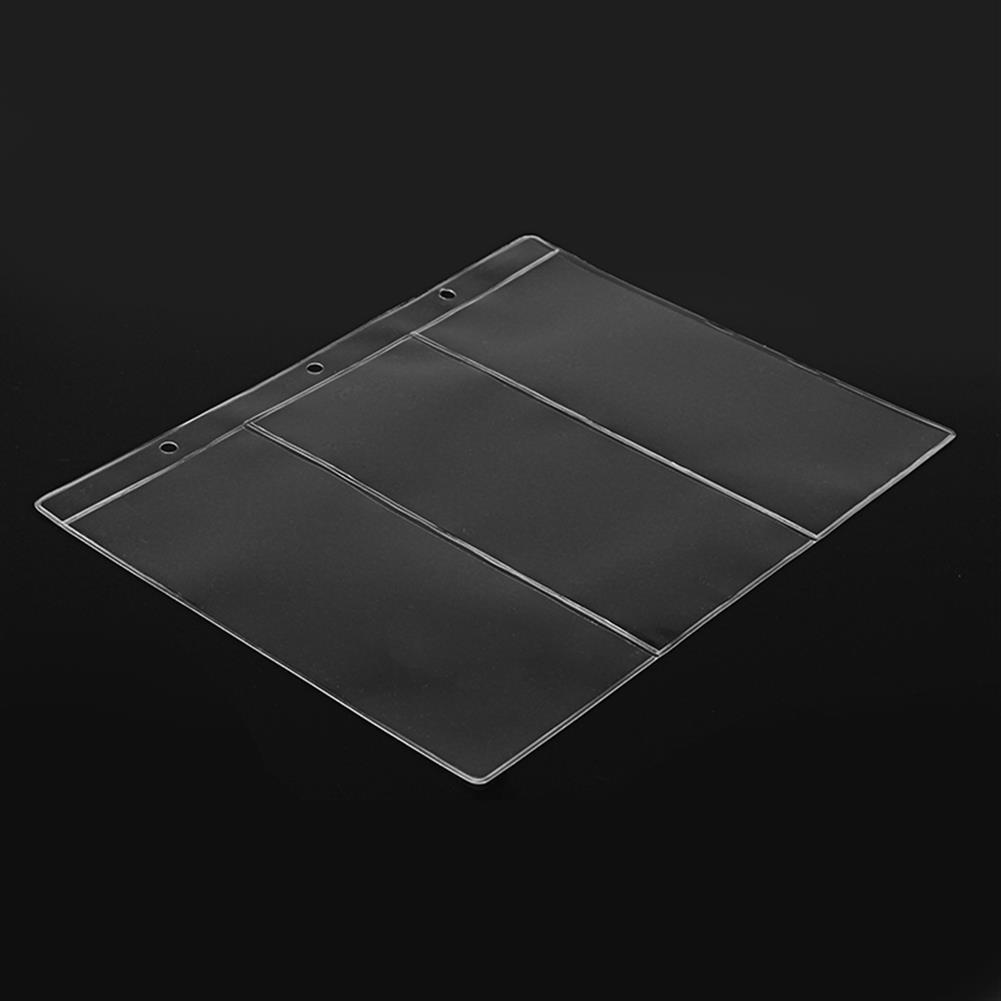 paper-notebooks 10Pcs PVC Transparent Removable Sheets for Paper Money Collection Album Banknote Album HOB1287792 2 1
