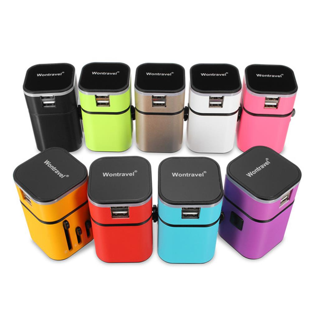tablet-chargers Universal Travel USB Power Adapter Power Plug Charger international World Converter HOB1288481 2 1