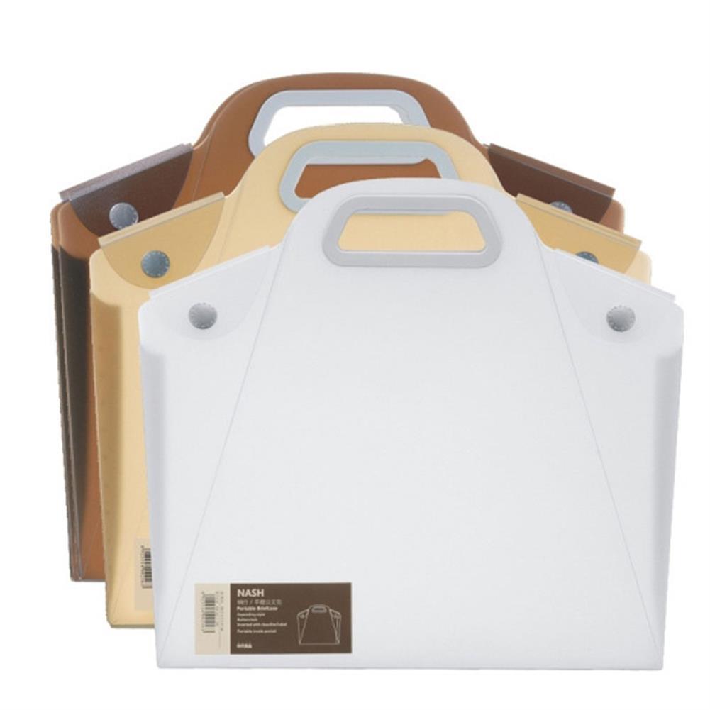 desktop-off-surface-shelves A4 Durable Transparent File Folder Files Bag Document Folder Double Buckle School office Appliance HOB1324884 1