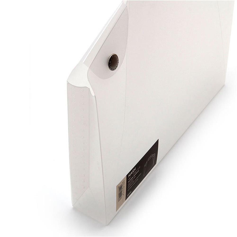 desktop-off-surface-shelves A4 Durable Transparent File Folder Files Bag Document Folder Double Buckle School office Appliance HOB1324884 3 1