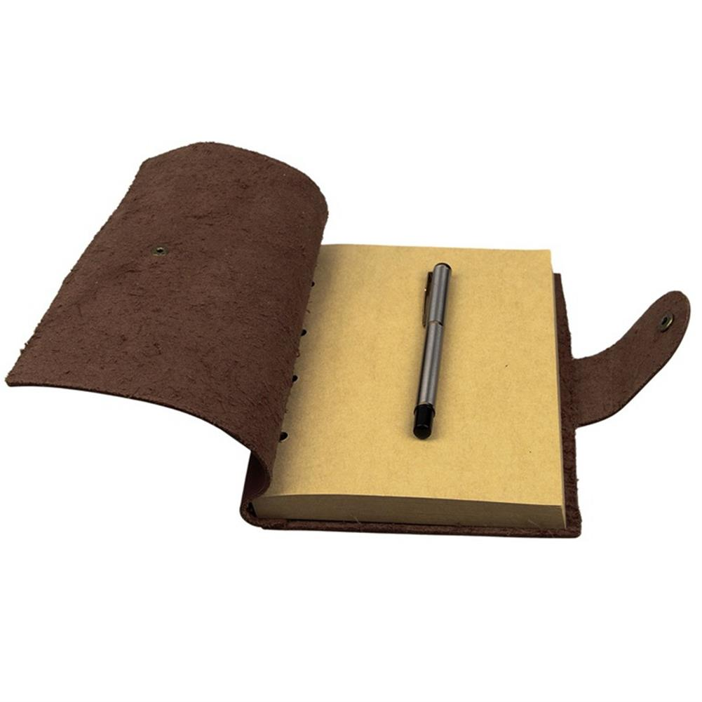 paper-notebooks 1Pcs Vintage Kraft Paper Notebook Leather Diary Journals Notepad School office Student Stationery Supplies HOB1329862 1