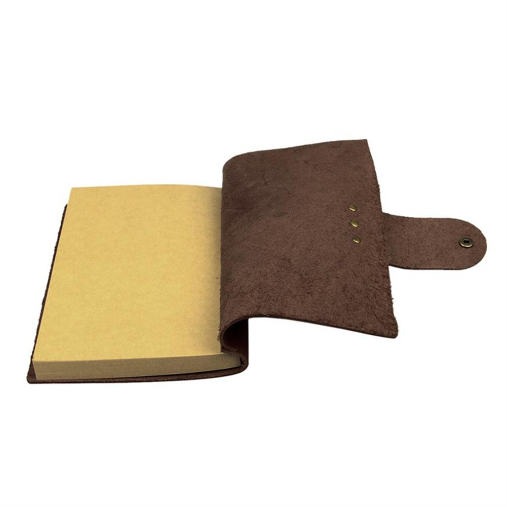 paper-notebooks 1Pcs Vintage Kraft Paper Notebook Leather Diary Journals Notepad School office Student Stationery Supplies HOB1329862 2 1
