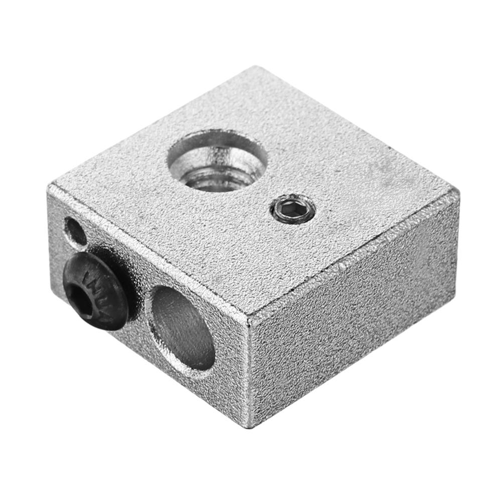 3d-printer-accessories 0.4mm Brass Nozzle + Aluminum Heating Block + 1.75mm Nozzle Throat 3D Printer Part Kit with M6 Screw HOB1333998 1 1