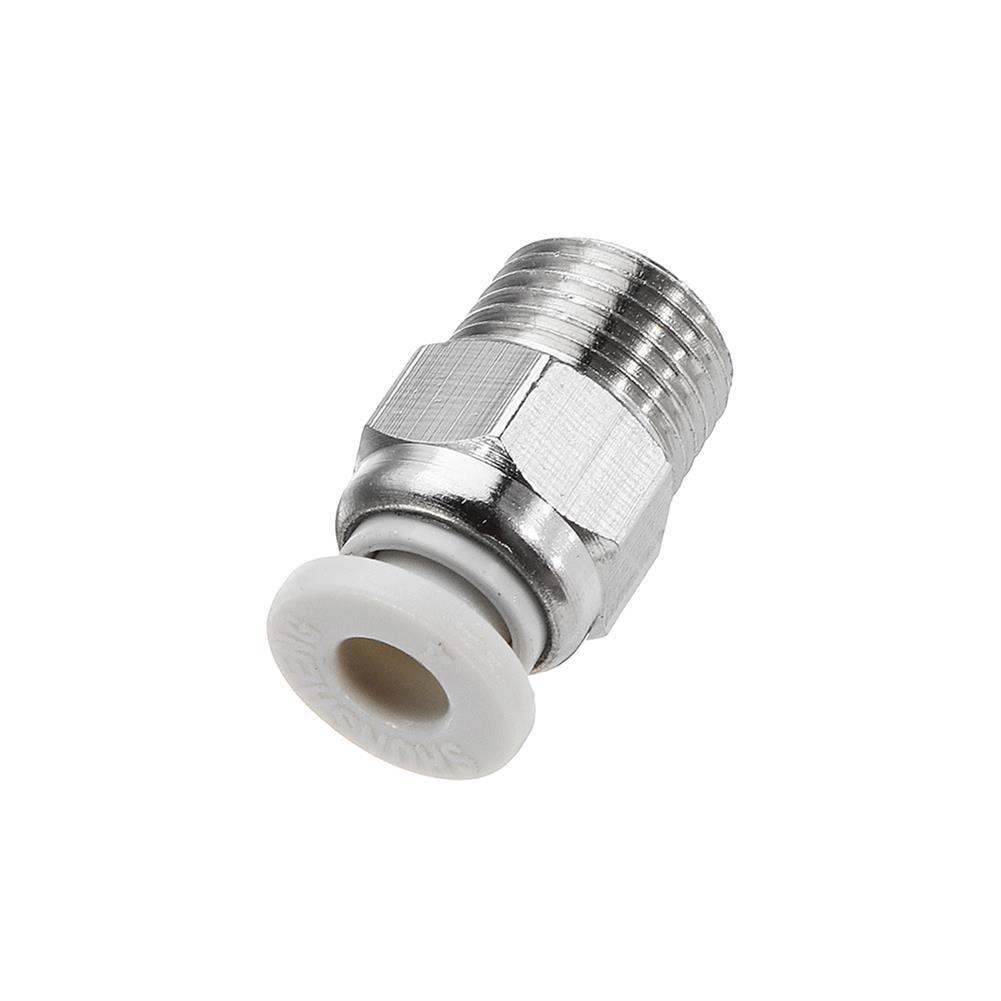 3d-printer-accessories 10pcs Creality 3D Silver 1/8 Teeth Thread Nozzle Quick Direct Pneumatic Connector for 3D Printer HOB1334650 3 1