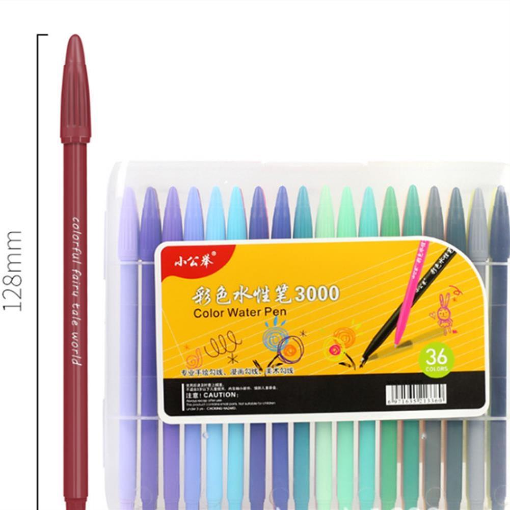 gel-pen 36 Color Gel Pens Hand Account Hook Line Pen Stationery office School Supplies Drawing Graffiti HOB1338029 1