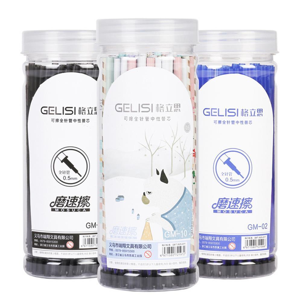 gel-pen 0.5mm 60pcs Erasable Gel Pen Refill Blue Black ink Refill Rod Magic Gel Pen office Supplies HOB1340185 1