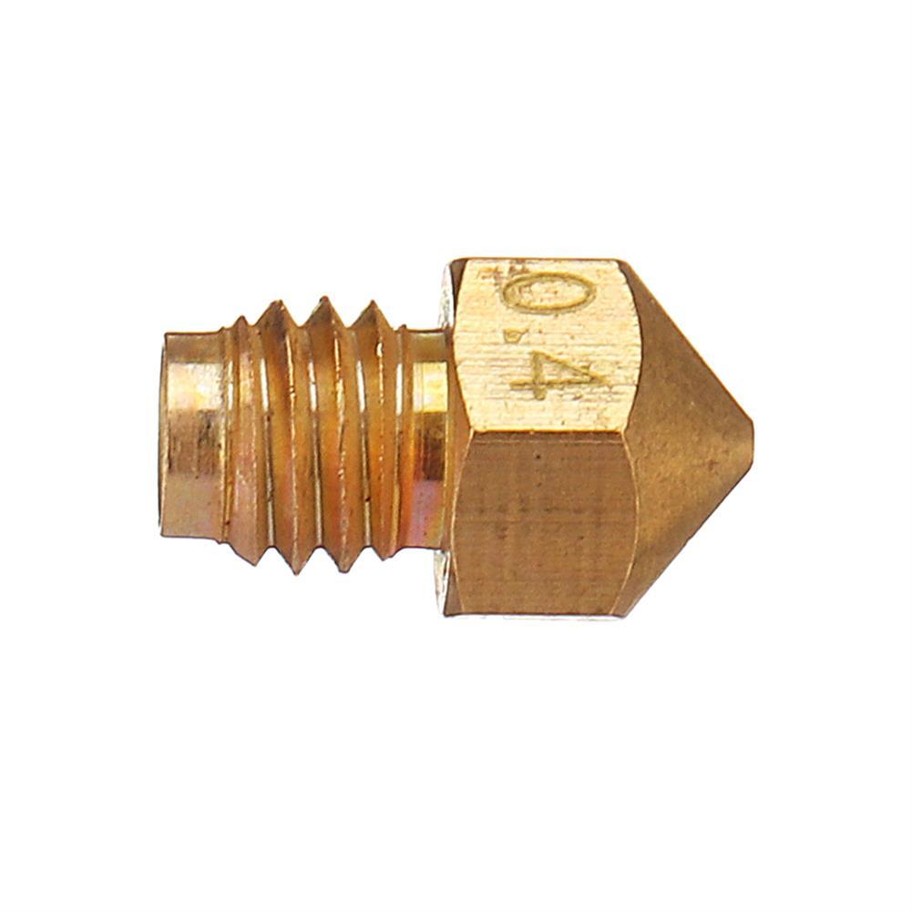 3d-printer-accessories 3Pcs M5 Screw Thread 0.4mm V6 Brass Nozzle for 3D Printer 1.75mm Filament HOB1348198 2 1