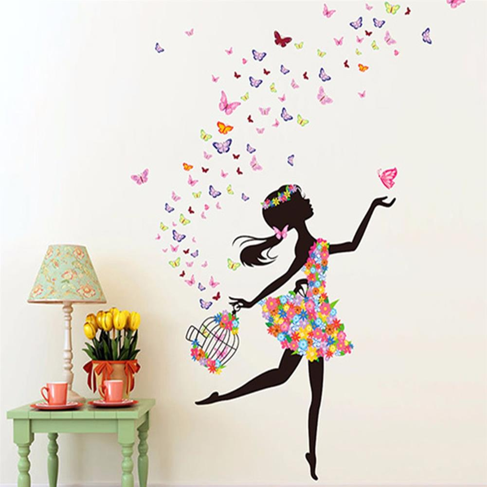 other-learning-office-supplies DIY Wall Stickers Flower Elf Dance Girl Butterfly Wallpaper Wall Decal Home office Living Room Childrens Bedroom Wall Decor HOB1349539 1