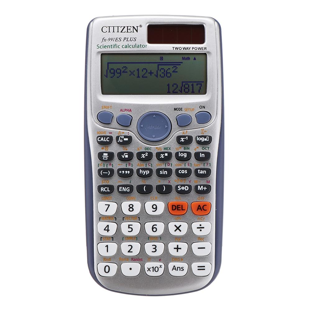 calculator GTTTZEN 991ES PLUS Scientific Calculator 417 Functions Student College Matrix Complex Equation HOB1356658 1