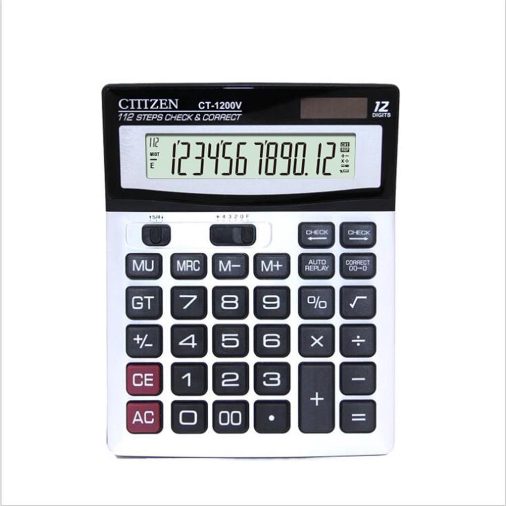 calculator Gtttzen DM-1200V Economical Solar Dual Power Calculator office Supplies Desktop Computer 146 x 187cm HOB1356733 1