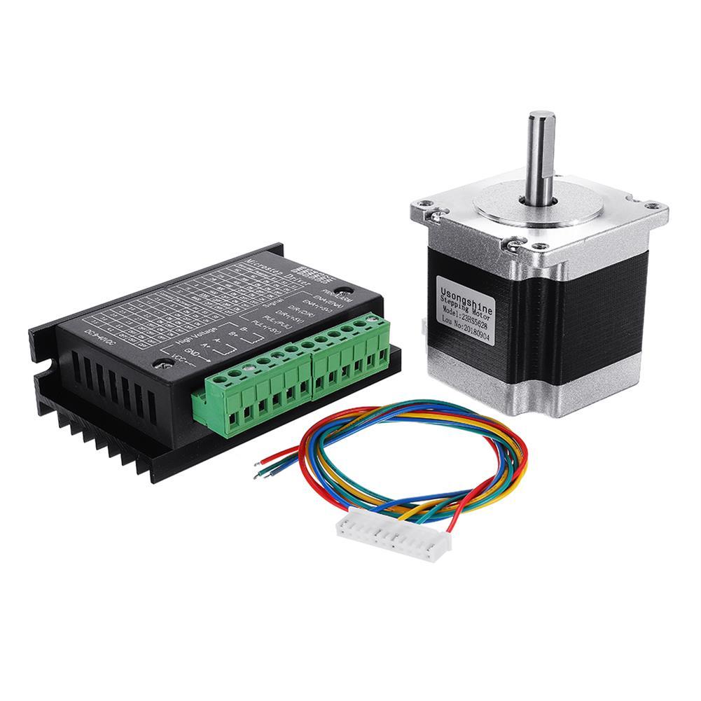 3d-printer-accessories Nema 23 23HS5628 2.8A 2 Phase 6.35mm Shaft Stepper Motor with TB6600 HOB1362157 1