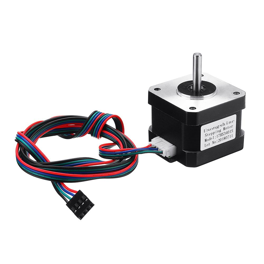 3d-printer-accessories 17HS3401S Nema17 4-lead 1.3A 42BYGH Stepper Motor for 3D Printer CNC Part HOB1366231 1