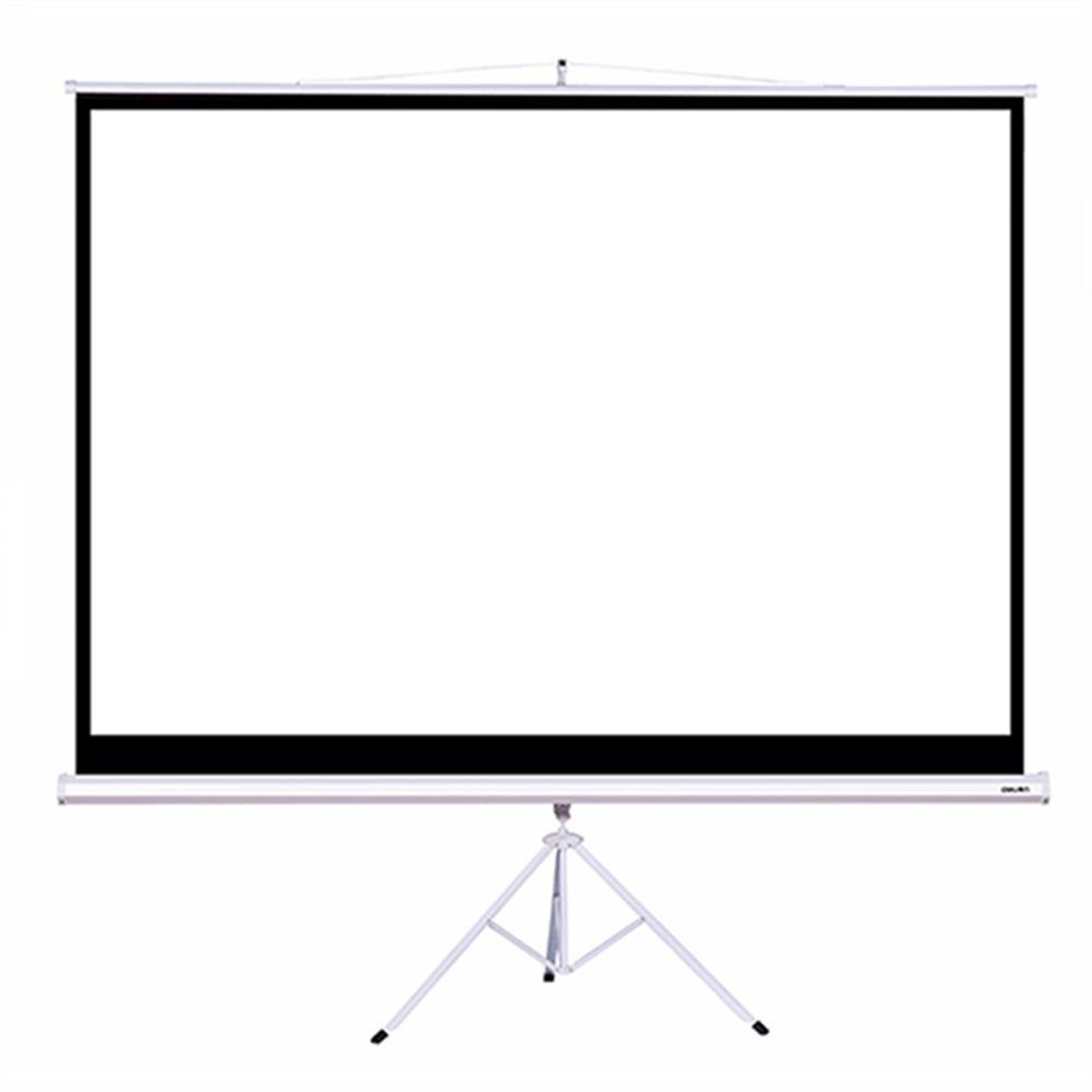 projector-screens Deli 50491 100 inch 4:3 Projector Screen with Projector Bracket for Home office HOB1366954 1
