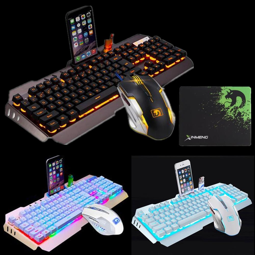 keyboards 104Keys USB Wired Backlight Mechanical Handfeel Gaming Keyboard Mouse and ouse Pad Combo Set HOB1390569 1 1