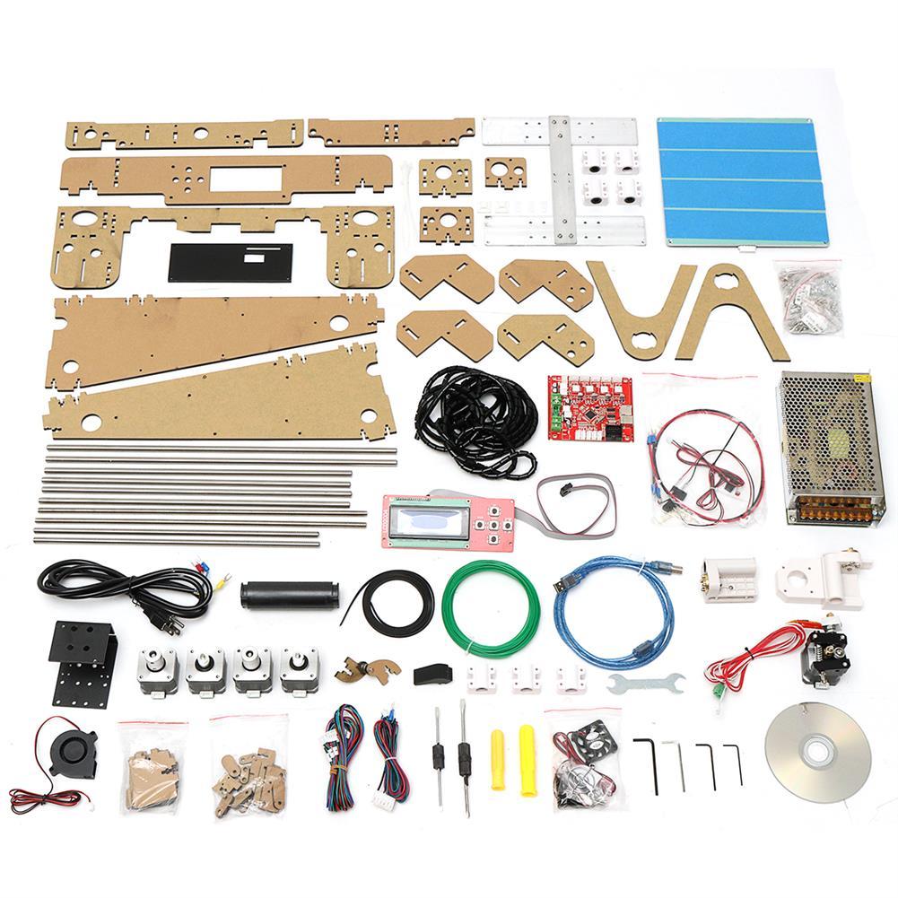 3d-printer 220W High Precision DIY 3D Printer Kit 220*220*240mm Printing Size 1.75mm 0.4mm Nozzle HOB1390828 2 1