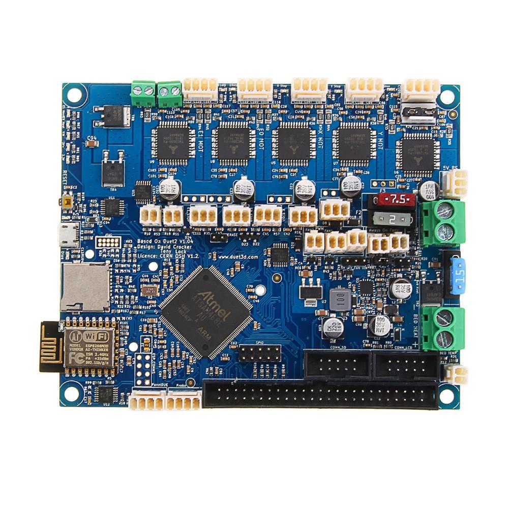 3d-printer-module-board Duet 2 Wifi V1.04 Upgrades Controller Board Mainboard Cloned DuetWifi Advanced 32bit Motherboard for 3D Printer CNC Machine HOB1413704 1 1