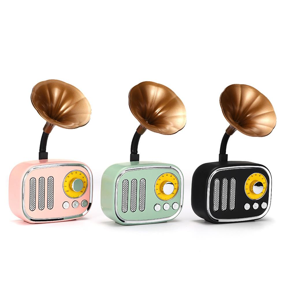 tablet-speakers-earphones 5W Phonograph bluetooth Speaker Support AUX play TF Card Play FM Radio HOB1415702 1 1