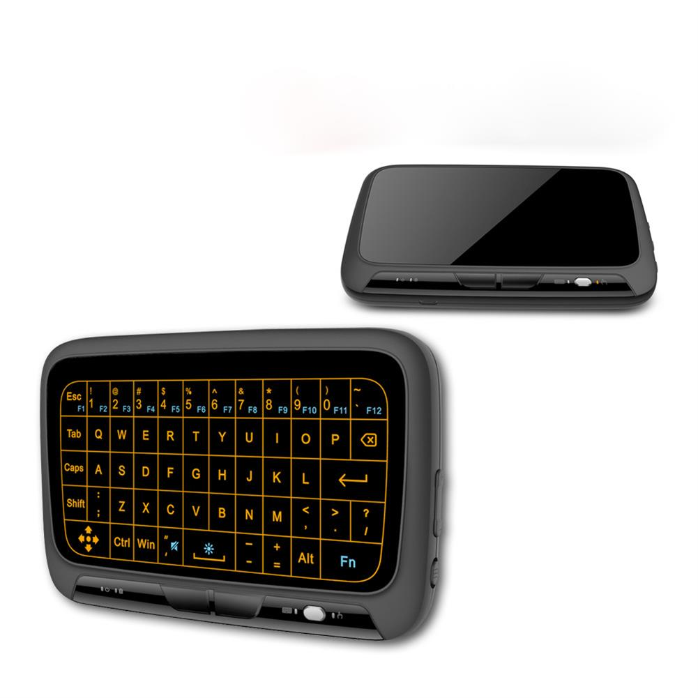 keyboards H18+2.4Ghz Backlit Mini Wireless Keyboard Airmouse Full Screen No Alphabet Mouse Remote Control for PC Android Tv Box PS3 HOB1418965 1