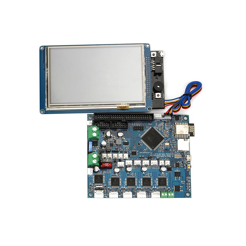 3d-printer-module-board Duet 2 Wifi V1.04 Cloned DuetWifi Advanced 32 Bit Electronic Mainboard with 7 inch PanelDue Touch Screen Controller for 3D Printer HOB1422517 1 1