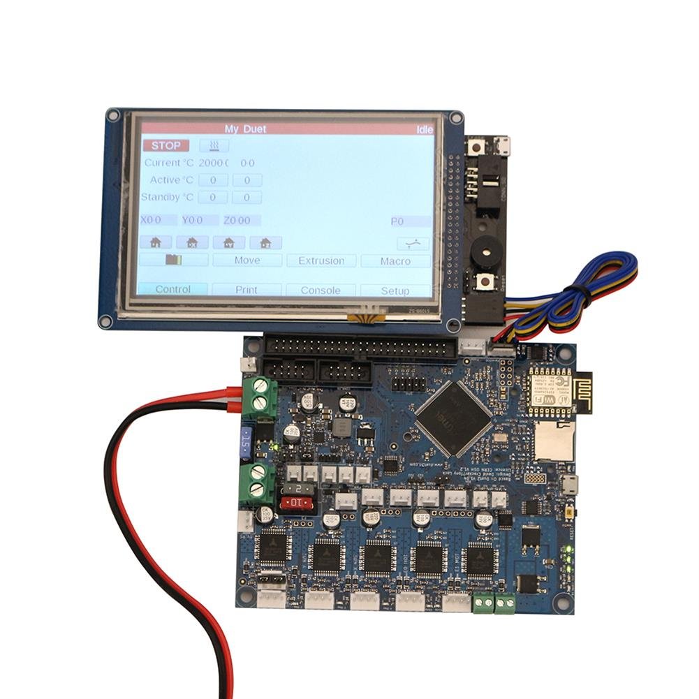 3d-printer-module-board Duet 2 Wifi V1.04 Cloned DuetWifi Advanced 32 Bit Electronic Mainboard with 5 inch PanelDue Touch Screen Controller for 3D Printer HOB1422518 1 1