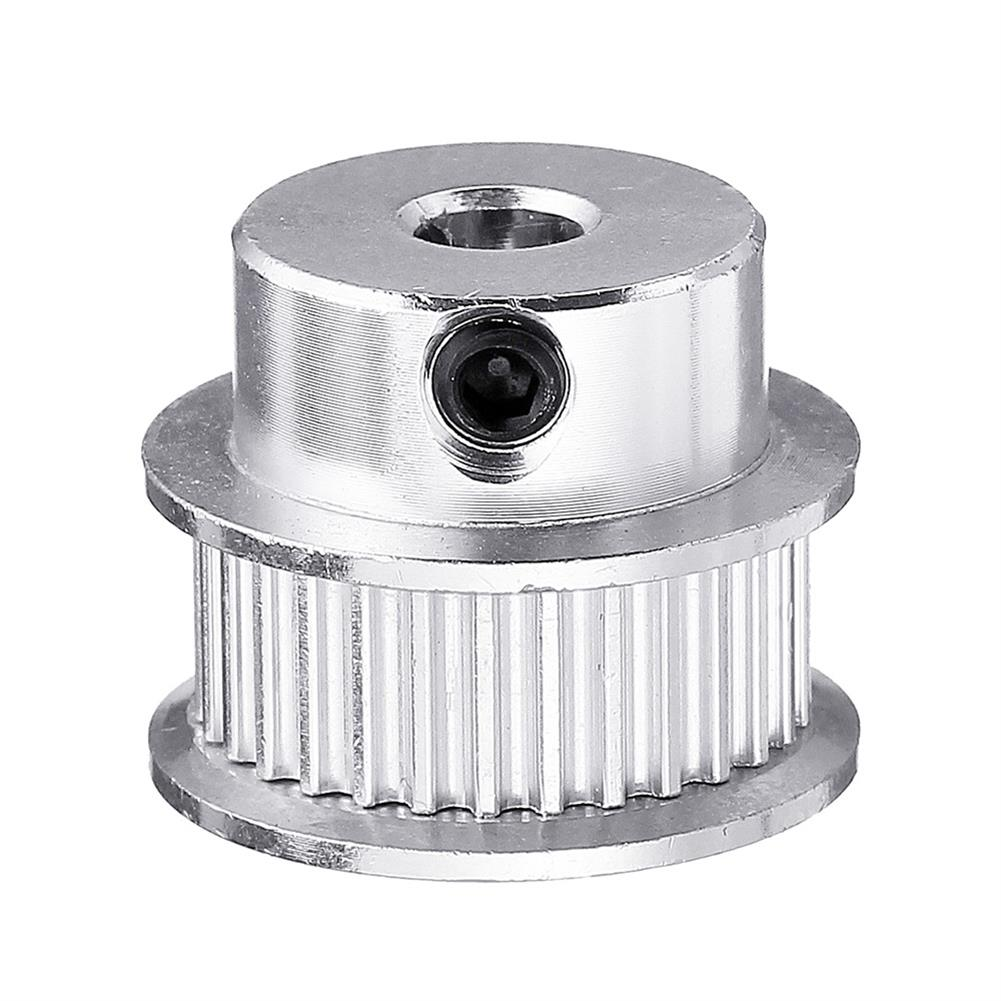 3d-printer-accessories P36-GT2-6-BF 36T 2GT Aluminum Timing Pulley 5mm inner Bore for 6mm Width Timing Belt HOB1423220 1