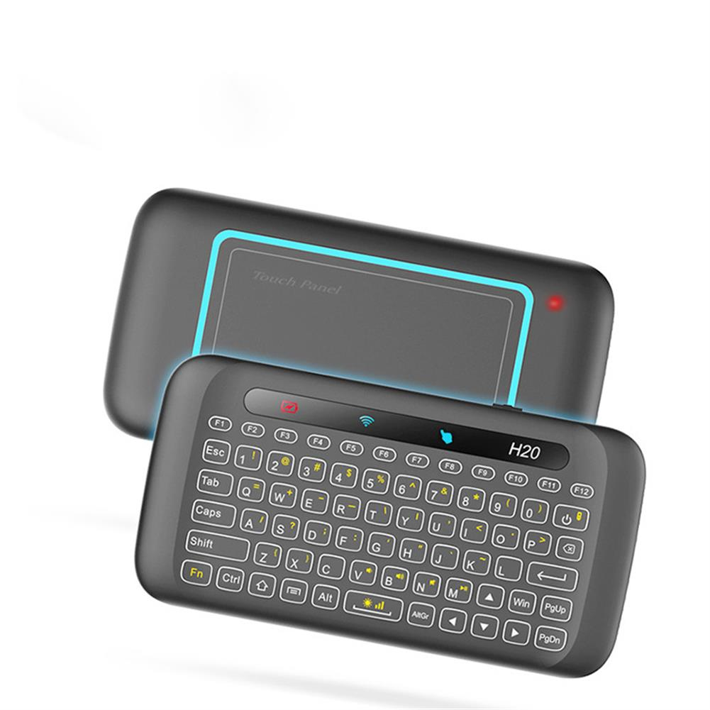 keyboards H20 Mini Colorful Backlight Air Mouse with Touch Pad Panel Mini Wireless Keyboard HOB1425314 1