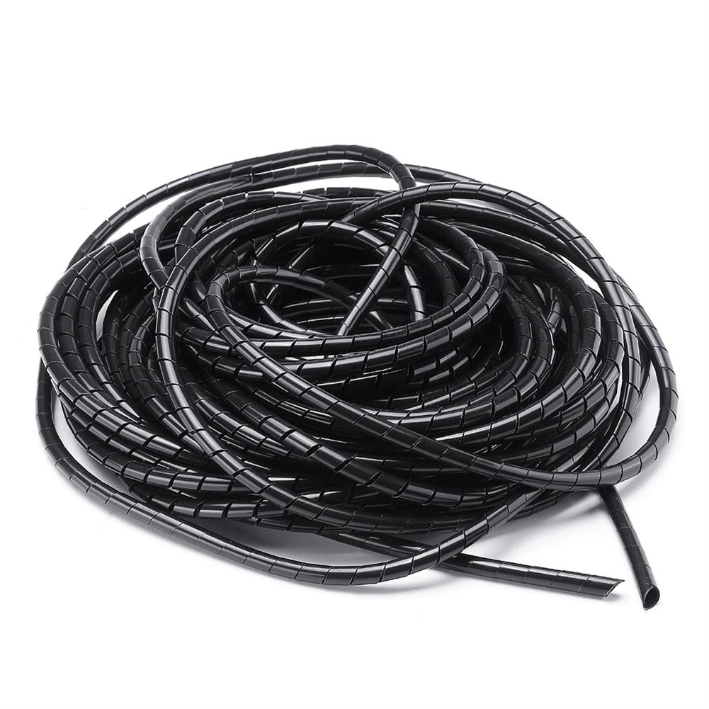 3d-printer-accessories Balck 6mm 13.5M Length PE YL692 Flexible Spiral Wrapping Wire Hiding Cable Sleeves for 3D Printer HOB1426910 1 1