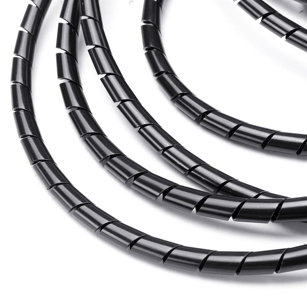 3d-printer-accessories Balck 6mm 13.5M Length PE YL692 Flexible Spiral Wrapping Wire Hiding Cable Sleeves for 3D Printer HOB1426910 3 1