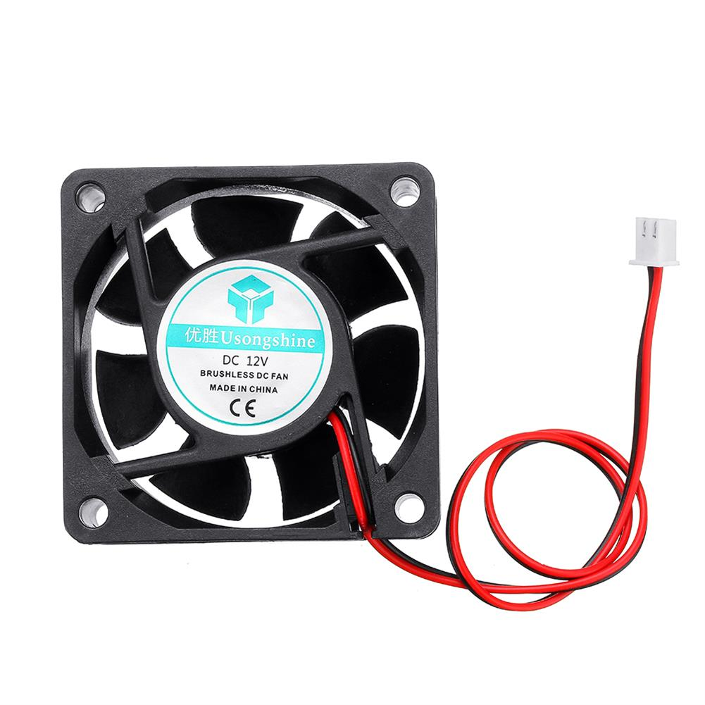 3d-printer-accessories 12v 6025 60*60*25mm Cooling Fan with 2Pin Cable for 3D Printer HOB1426966 1