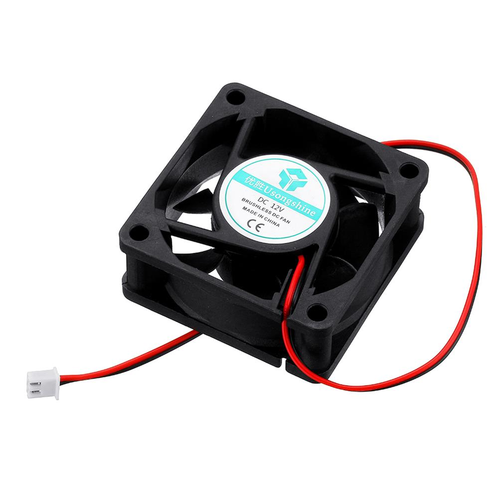 3d-printer-accessories 12v 6025 60*60*25mm Cooling Fan with 2Pin Cable for 3D Printer HOB1426966 1 1