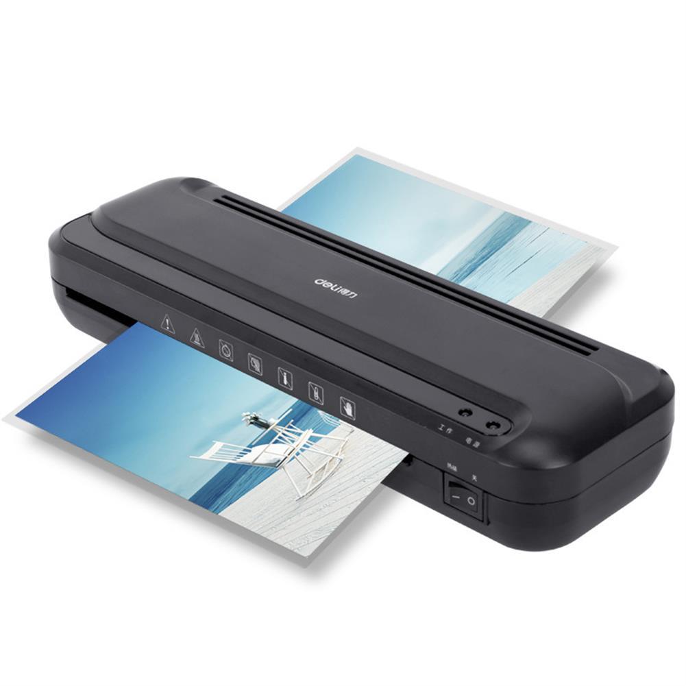 printers Deli 33939 A4 Photo Laminator Plastic Sealing Strip Machine Photo Overplasticizing Machine Home Film Laminating Machine for office Home HOB1435316 1