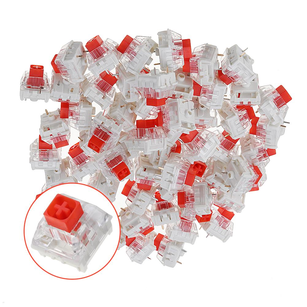 keycaps-switches 70PCS Pack Kailh BOX Red Switch Keyboard Switches for Keyboard Customization HOB1435799 1