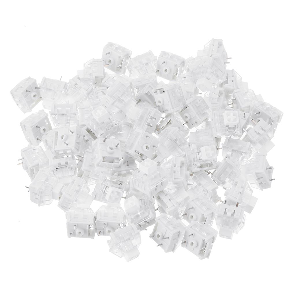 keycaps-switches 70PCS Pack 3Pin Kailh BOX White Switch Clicky Keyboard Switch for Keyboard Customization HOB1435802 1