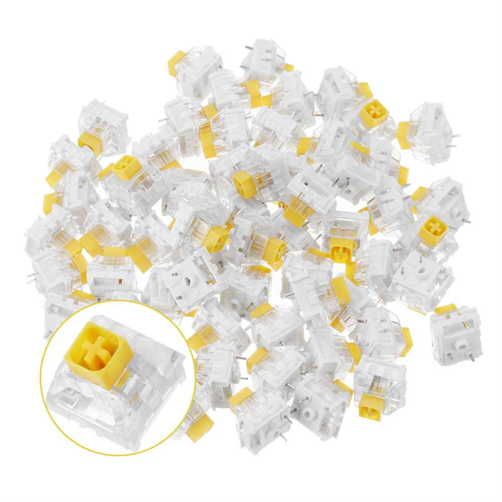 keycaps-switches 70PCS Pack Kailh BOX Heavy Dark Yellow Switch Linear Keyboard Switch for Keyboard Customization HOB1435805 1