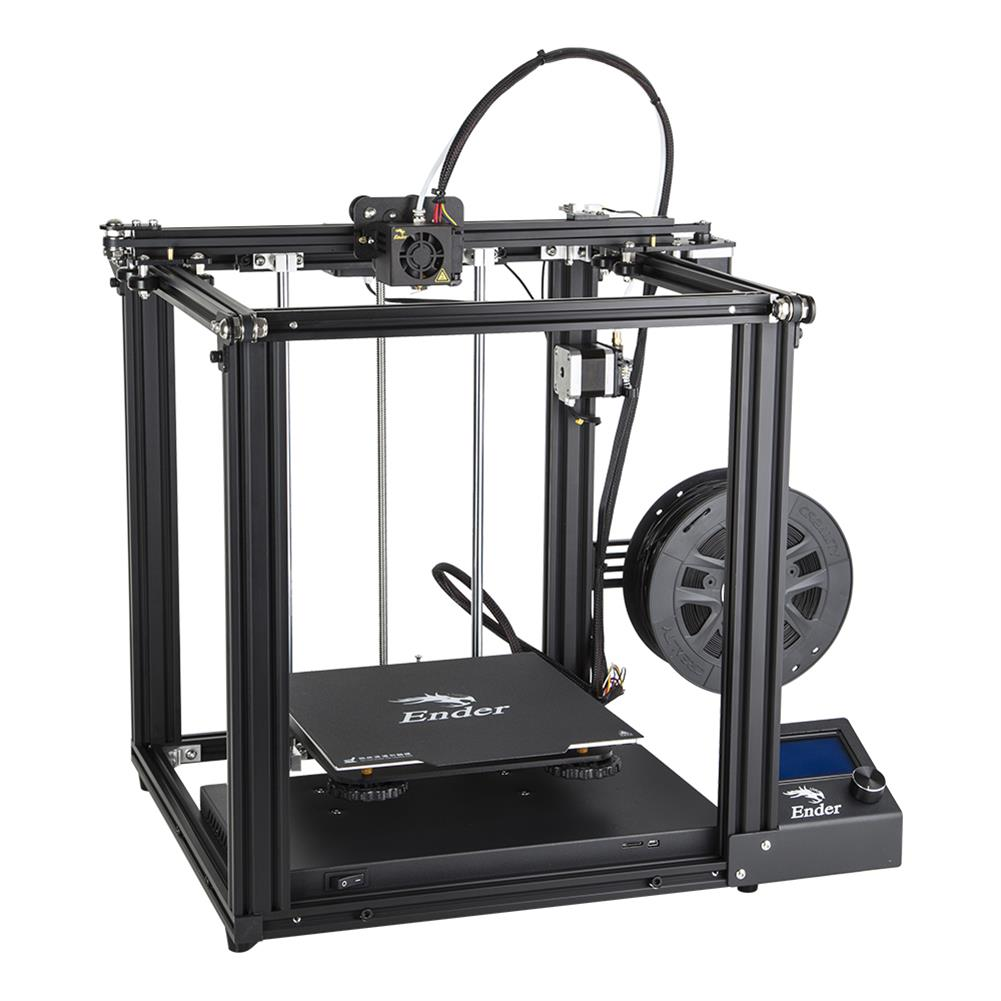 3d-printer Creality 3D Ender-5 DIY 3D Printer Kit 220*220*300mm Printing Size with Resume Print Dual Y-Axis Motor Soft Magnetic Sticker Support off-line Print HOB1437021 1