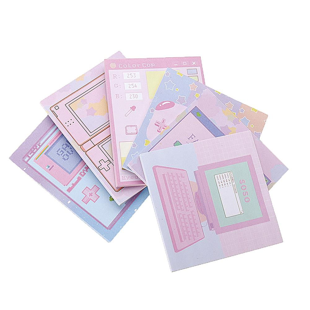 paper-notebooks 6 Pcs/pack Colorful Sticky Notes Cartoon Love Game Pad Sticky Memo Notes Gift Stationery office Sticker School Supplies HOB1444828 1 1
