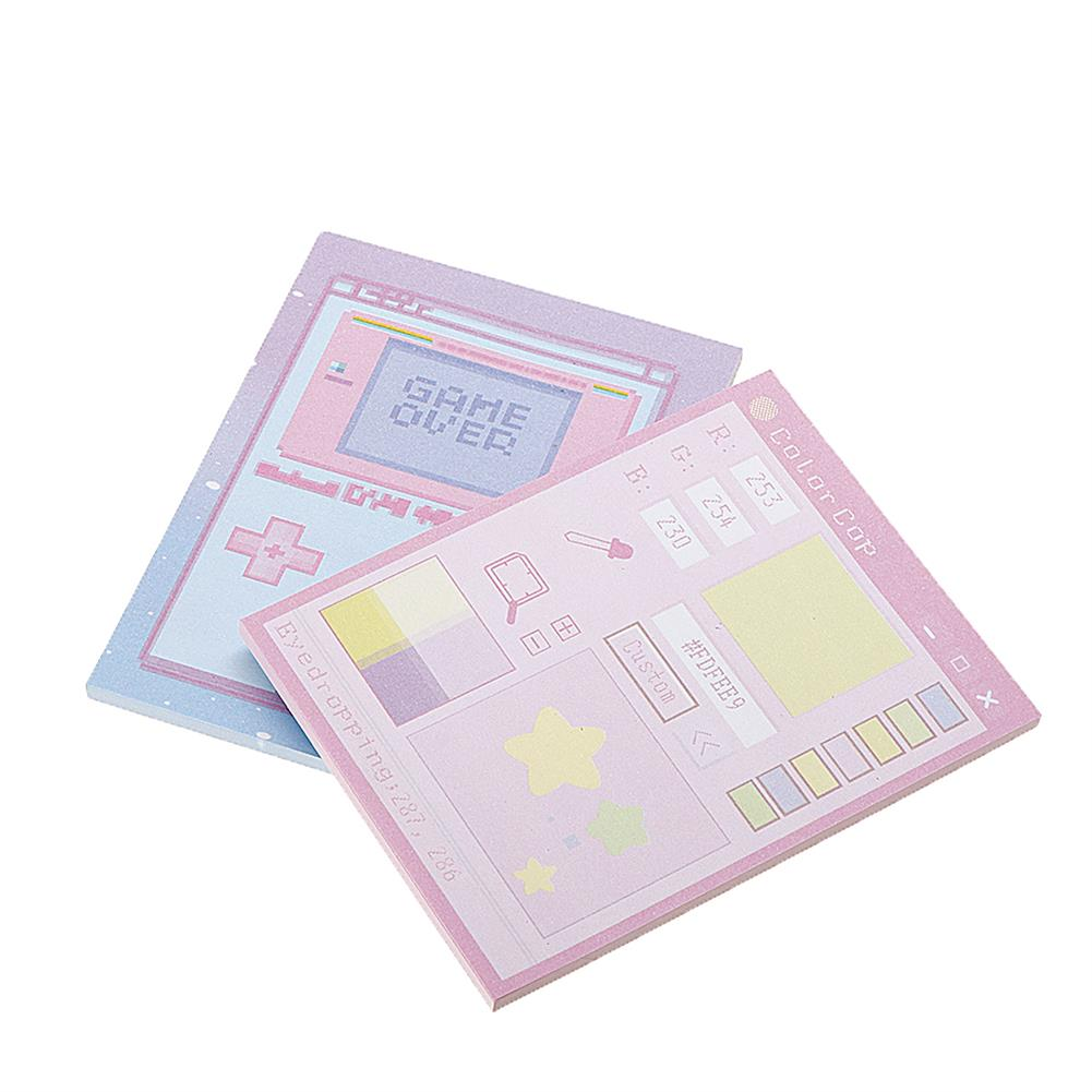 paper-notebooks 6 Pcs/pack Colorful Sticky Notes Cartoon Love Game Pad Sticky Memo Notes Gift Stationery office Sticker School Supplies HOB1444828 2 1