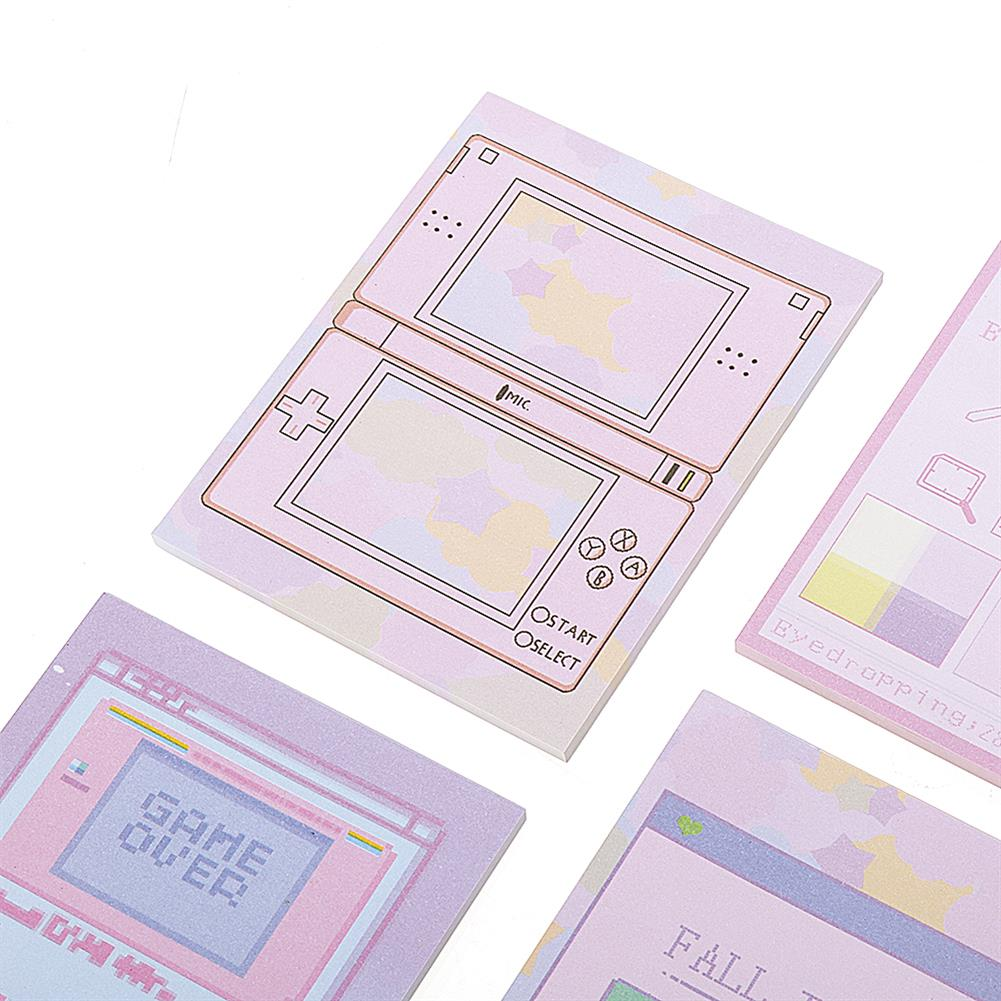 paper-notebooks 6 Pcs/pack Colorful Sticky Notes Cartoon Love Game Pad Sticky Memo Notes Gift Stationery office Sticker School Supplies HOB1444828 3 1