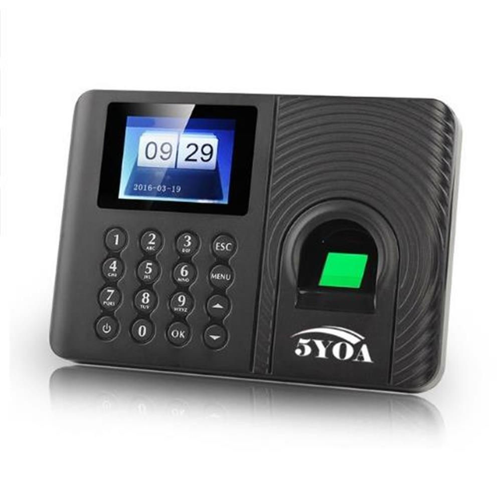 attendance-machine 5YOA A10 Biometric Fingerprint Time Attendance Machine Clock Recorder Employee Recognition Device Electronic English Spanish Russian Check-in Fingerprint Reader HOB1446241 1