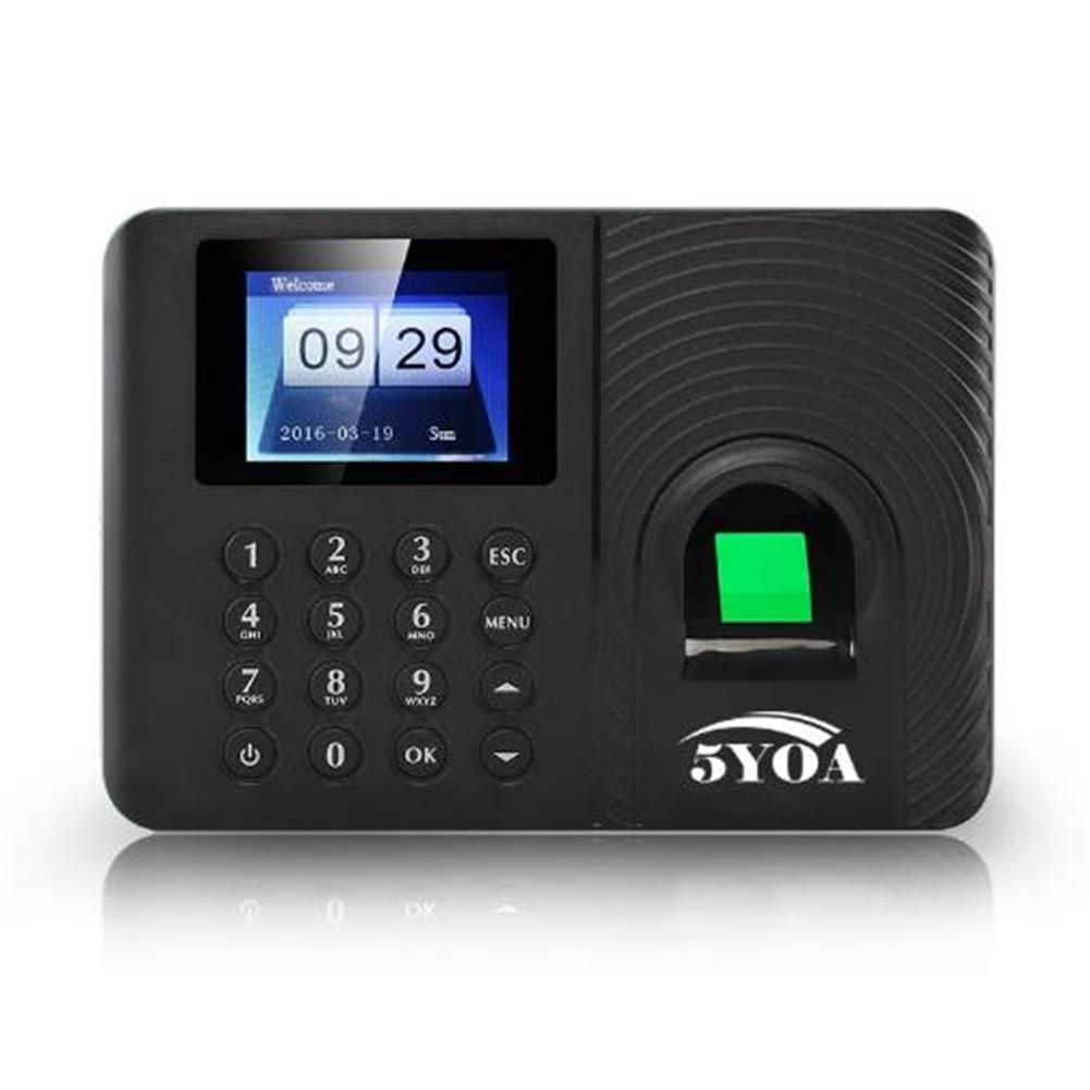 attendance-machine 5YOA A10 Biometric Fingerprint Time Attendance Machine Clock Recorder Employee Recognition Device Electronic English Spanish Russian Check-in Fingerprint Reader HOB1446241 1 1
